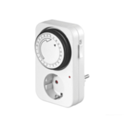 Microconnect elektrische timer: Analog 24h Timer, LED - Wit