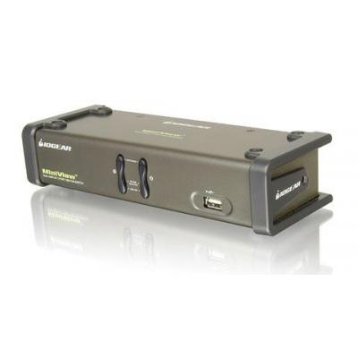 Iogear 2-Port Dual View with cables KVM switch