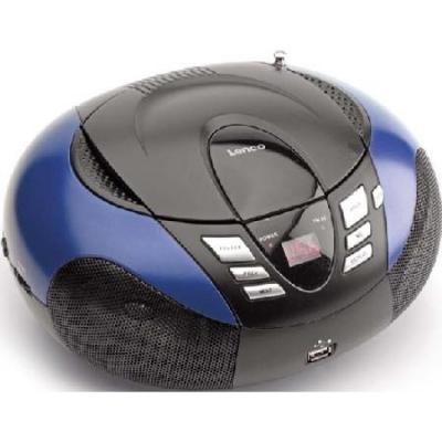 Lenco CD-radio: SCD-37 USB - Zwart, Blauw