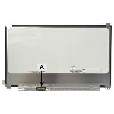 """2-power notebook reserve-onderdeel: 33.782 cm (13.3 """") 1920x1080 FullHD LED Matte - Zwart, Grijs, Wit"""