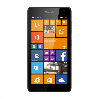 Nokia smartphone: Lumia 535 zwart 8GB (Approved Selection One Refurbished)
