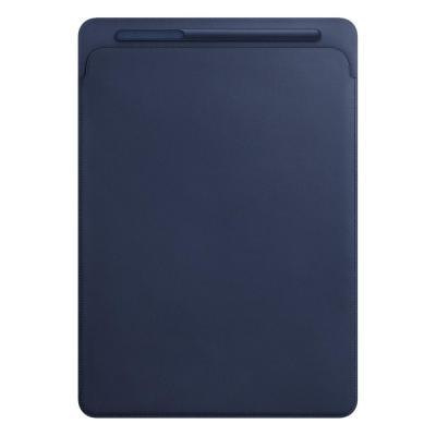 Apple tablet case: Leren Sleeve voor 12.9'' iPad Pro - Midnight Blue - Blauw