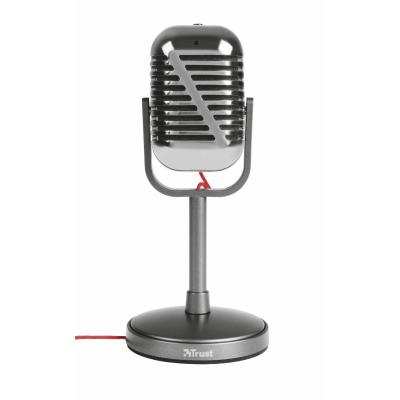 Trust microfoon: Elvii Vintage Microphone, 3.5m, 1.8m Cable - Metallic