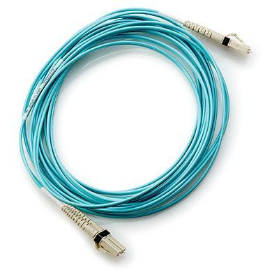 Hewlett Packard Enterprise Cable - Fiber Channel LC/LC, 0.5m (19.68in) long, multi-mode .....
