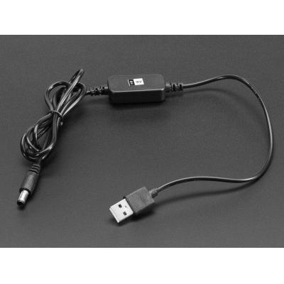 Adafruit USB kabel: USB A - DC 9V, 1.2 m, 35.1 g - Zwart