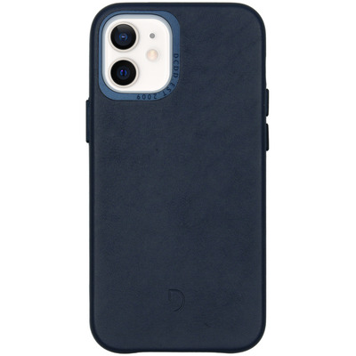 Leather Backcover iPhone 12 Mini - Navy - Blauw / Blue Mobile phone case