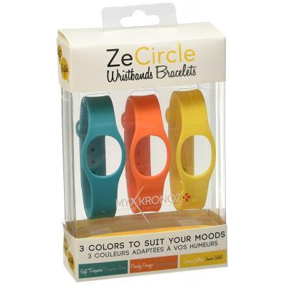 Mykronoz : ZeCircle bracelets, 3 pack, colorama - Oranje, Turkoois, Geel