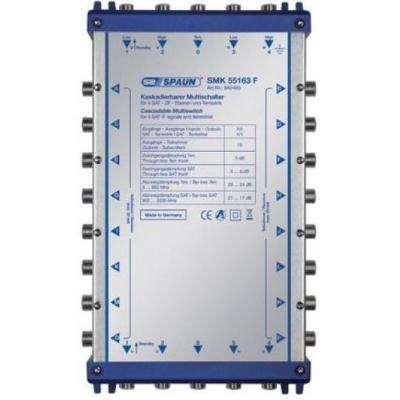 Spaun SMK 55163 F Kabel splitter of combiner - Blauw, Zilver