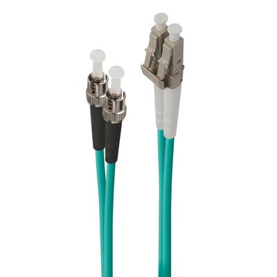 ALOGIC 10m LC-ST 40G/100G Multi Mode Duplex LSZH Fibre Cable 50/125 OM4 Fiber optic kabel - Turkoois