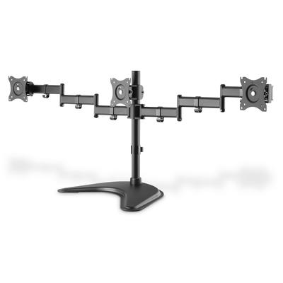 "Digitus Triple Monitor Stand Mount 13-27"", 3x 8 kg (max.), black Monitorarm - Zwart"