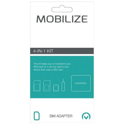 Mobilize SIM/flash memory card adapter: Smartphone SIM card adapter, 4-in-1 Kit