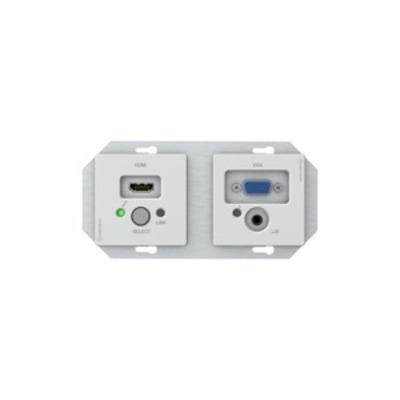 Kindermann HDCP 1.4, 1xHDMI, 1xVGA, 1xRJ45, white Wandcontactdoos - Wit
