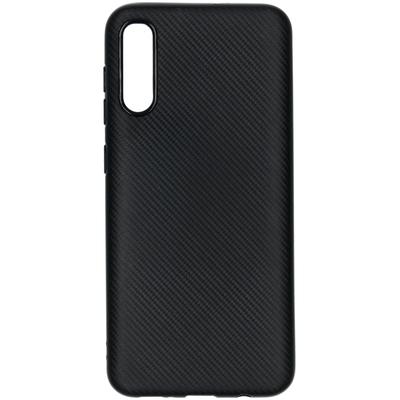 CP-CASES Carbon Softcase Backcover Samsung Galaxy A50 / A30s - Zwart - Zwart / Black Accessoire