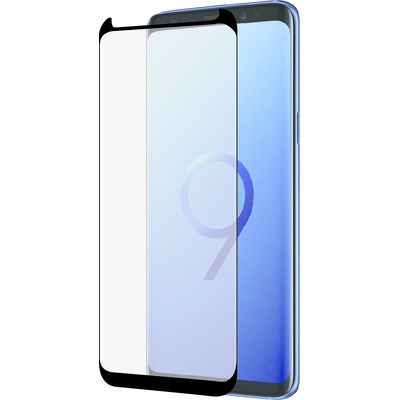 Azuri Curved Tempered Glass RINOX ARMOR - black frame - SMALL - voor Samsung S9 Screen protector - Zwart, .....