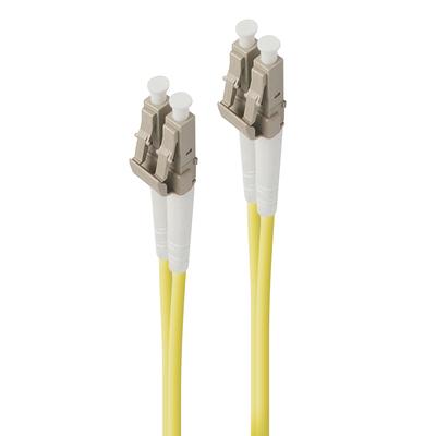 ALOGIC 15m LC-LC Single Mode Duplex LSZH Fibre Cable 09/125 OS2 Fiber optic kabel - Geel