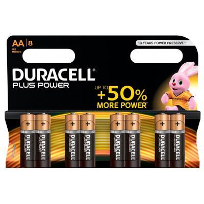 Duracell batterij: Plus Power alkaline AA-batterijen, verpakking van 8 - Zwart, Goud