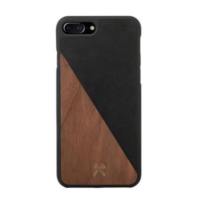 Woodcessories ECOSPLIT Mobile phone case - Zwart, Walnoot