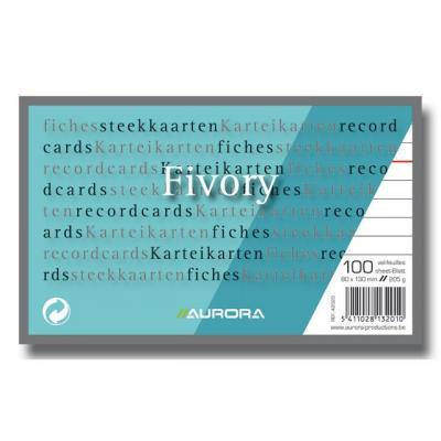 Aurora indexkaart: Systeemkaart 80x130mm wit/pak 100