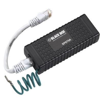 Black Box Power over Ethernet Surge Protector, 60-Volt PoE adapter - Zwart