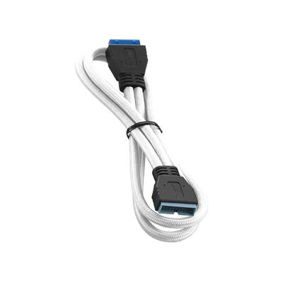 Cablemod ModFlex Internal USB 3.0 50cm, White USB kabel - Wit