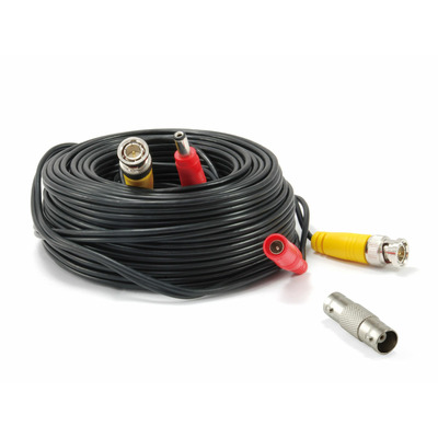 LevelOne 18 m BNC Video Power Cable Coax kabel - Zwart