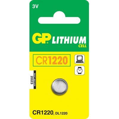 Gp batteries batterij: Lithium Cell CR1220 - Roestvrijstaal