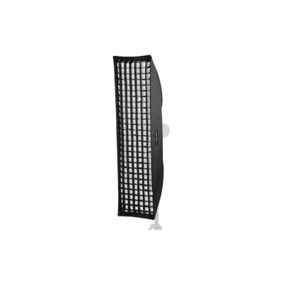 Walimex softbox: Striplight PLUS 25x180cm - Zwart, Zilver, Wit