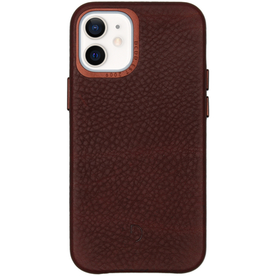 Decoded Leather Backcover iPhone 12 Mini - Chocolate Brown - Bruin / Brown Mobile phone case