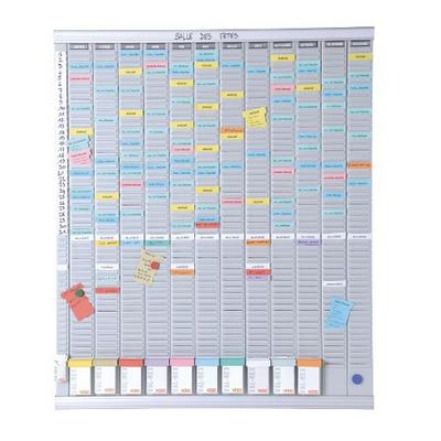 Nobo 12 panelen met 54 sleuven Planningsysteem - Wit
