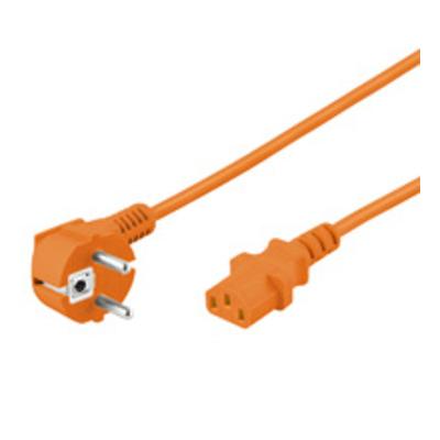 Goobay 2m Power cable Electriciteitssnoer - Oranje