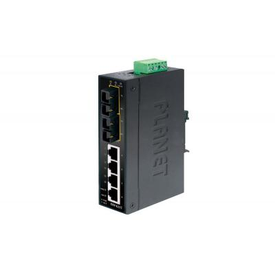 ASSMANN Electronic Industrial Fast Ethernet 4-Port RJ45 + 2-Port Gigabit Combo IP30 Switch - Zwart