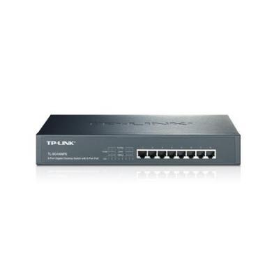 TP-LINK Gigabit desktop/rackmount met 8 aansluitingen met PoE Switch - Zwart