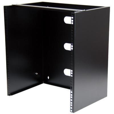 """Startech.com rack: Wand monteerbaar rack voor 12""""/30 cm apparatuur wandkast massief staal 12U - Zwart"""