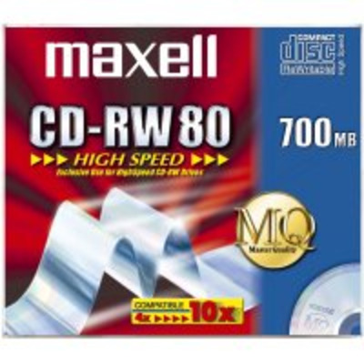 Maxell CD-RW 700MB 80Min 1-10x HighSpeed JC 10pk CD