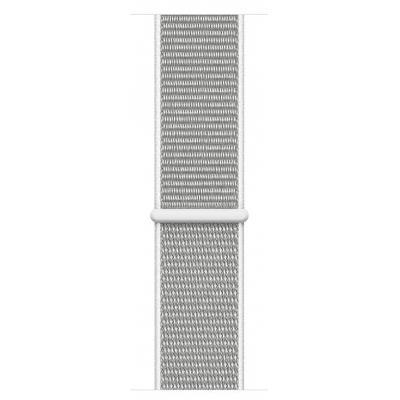 Apple : Geweven sportbandje - Schelpenwit (44 mm) - Grijs, Zilver