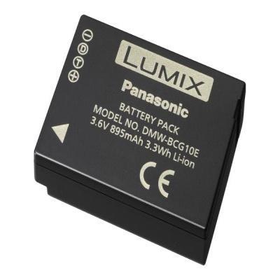 Panasonic batterij: DMW-BCG10E ID Secured, 3.6V, 895mAh(min.), 3.3Wh Battery - Zwart