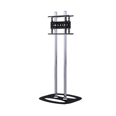 B-Tech Universal Back-to-Back Flat Screen Floor Stand TV standaard - Zwart, Chroom