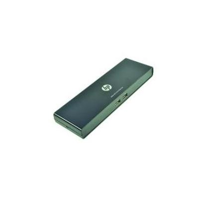 2-power docking station: Port Replicator 2x USB 3.0, 4x USB 2.0, Gigabit Ethernet, DP, HDMI - Zwart