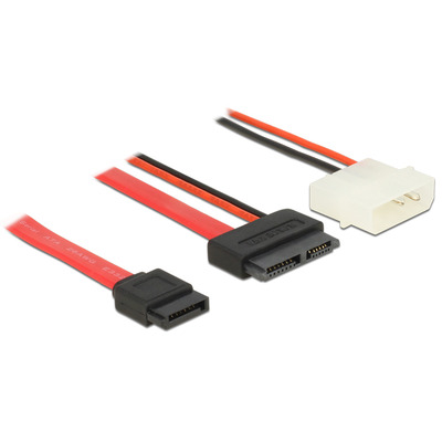 DeLOCK 84789 ATA kabel - Zwart, Rood