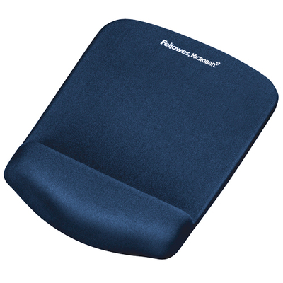 Fellowes PlushTouch™ Mousepad Wrist Support - Blue Muismat - Blauw