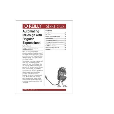 O'reilly boek: Media Automating InDesign with Regular Expressions - eBook (PDF)