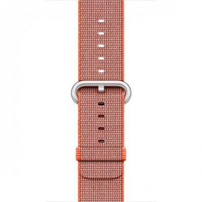 Apple : F/ Watch 42mm, Space-oranje/Antraciet, geweven nylon