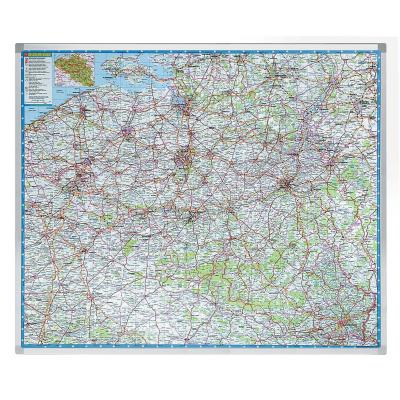 Legamaster kaart: Professional landkaart België - Multi kleuren