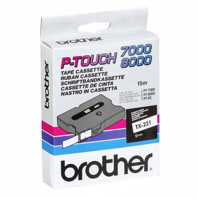 Brother TX-221 Labelprinter-tapes