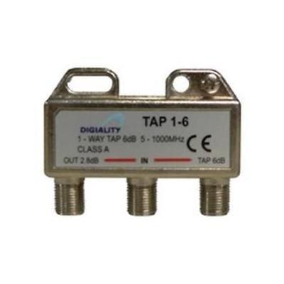 Digiality kabel splitter of combiner: Antenna 1-Way Tap 6 dB split 5-1000 MHz