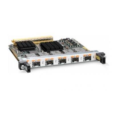 Cisco netwerkkaart: 5-Port Gigabit Ethernet Shared Port Adapter - Roestvrijstaal