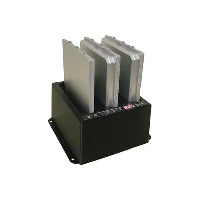 Panasonic 3 bay battery charger with Continental power adaptor, f / Toughpad FZ-G1 Oplader - Zwart
