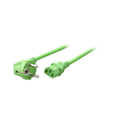 EFB Elektronik Power Cable 90° - C13 180°, green Electriciteitssnoer - Groen