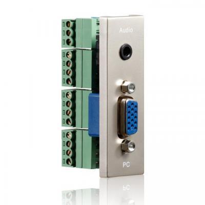 PureLink ID-WP-MOD-VG - connection plate VGA + audio, 22x68 mm Wandcontactdoos - Metallic
