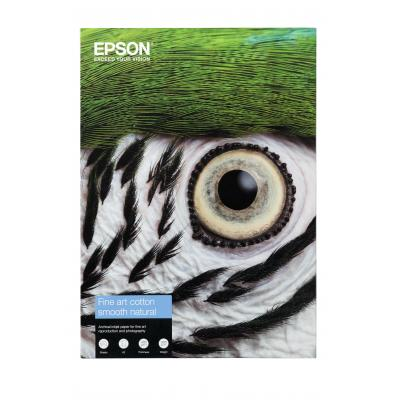 Epson creatief papier: Fine Art Cotton Smooth Natural A4 25 Sheets